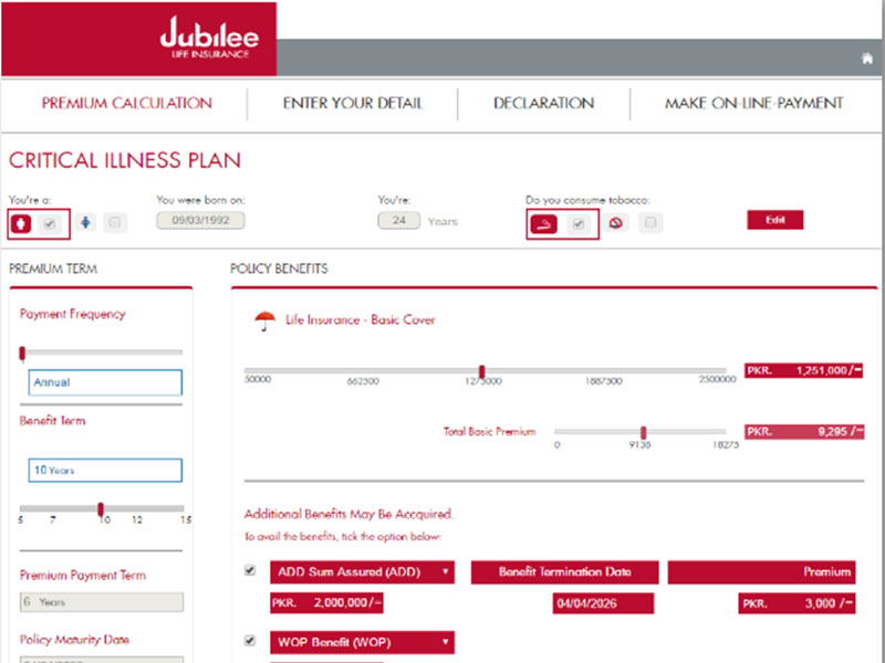 Online Policy Purchase for Jubilee Life Insurance - Web ...