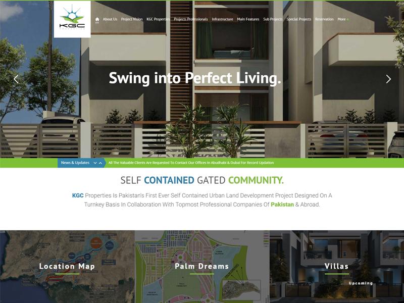 Karachi Golf City Properties (KGCP) – Web & Mobile Application
